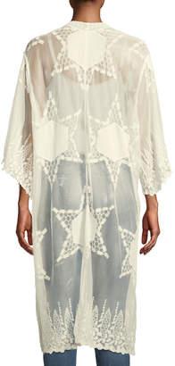 Raj Embroidered Lace Kimono