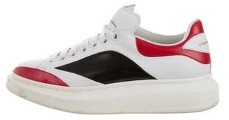 Alexander McQueen Leather Low-Top Sneakers $345 thestylecure.com