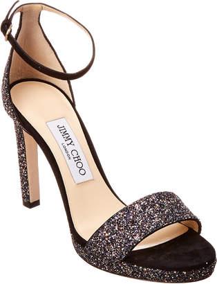 3fa436159 Jimmy Choo Black Adjustable Strap Women s Sandals - ShopStyle