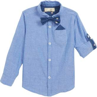Peek Bow Tie Oxford Shirt