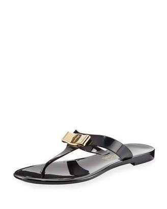 Salvatore Ferragamo Jelly City Flat Thong Sandal