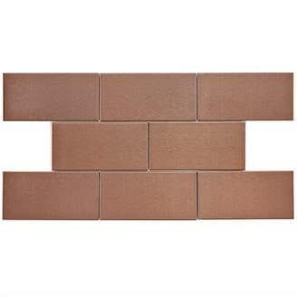 EliteTile SAMPLE - Vulcan Metal and Porcelain Subway Tile in Copper