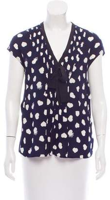 Claudie Pierlot Sleeveless Heart Print Top