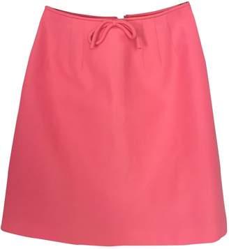 Orla Kiely Pink Cotton Skirt for Women