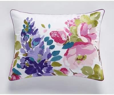 Wayfair Crosby Embroidered 100% Cotton Lumbar Pillow