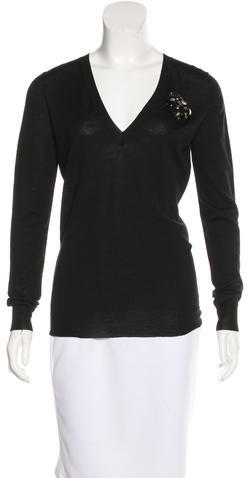 Gucci Gucci Wool V-Neck Sweater w/ Tags