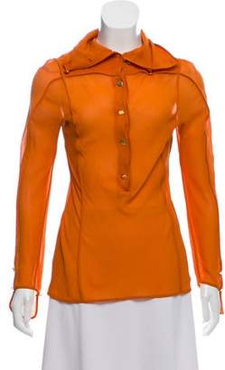 Fendi Silk Button Up Top
