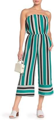 BeBop Striped Strapless Jumpsuit