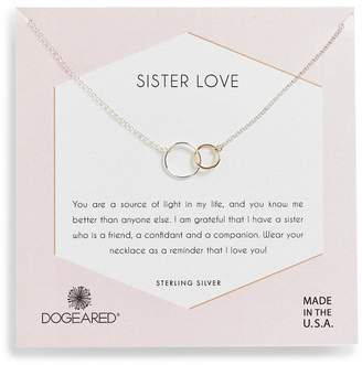 Dogeared Sister Love Two-Tone Necklace