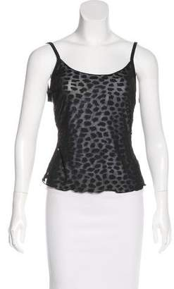 Armani Collezioni Sheer Sleeveless Top