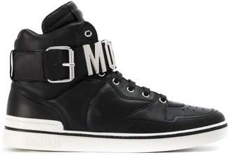 Moschino logo hi-top sneakers