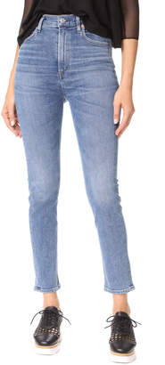 A Gold E AGOLDE Ruby Super High Straight Crop Jeans