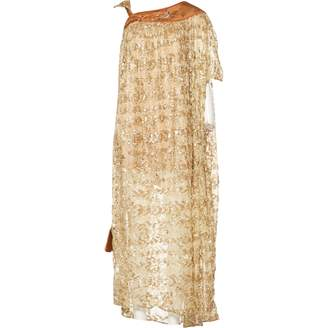 Vintage Dressing Gold Silk Dresses