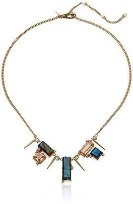 Alexis Bittar Geometric Multi Stone Bib with Satellite Crystal Spikes Pendant Necklace