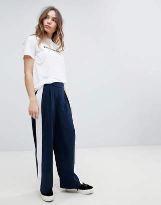Only Wide Leg PANTS With Side Stripe