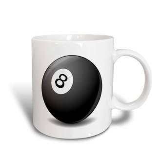 Pool' 3dRose #8 Pool Ball, Ceramic Mug, 15-ounce