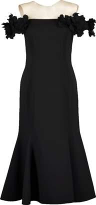 Oscar de la Renta Off Shoulder Fit And Flare Dress