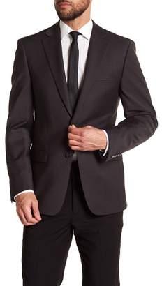 Calvin Klein Solid Gray Wool Suit Jacket