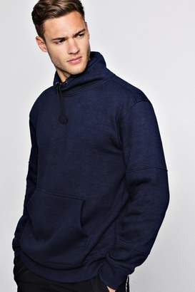 boohoo Panelled Funnel Neck Toggle Sweat