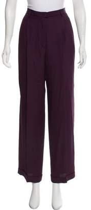 Emporio Armani High-Rise Wide-Leg Pants