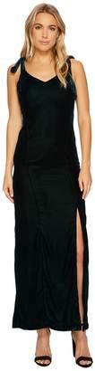 J.o.a. Velvet Tie Shoulder Maxi Dress Women's Dress