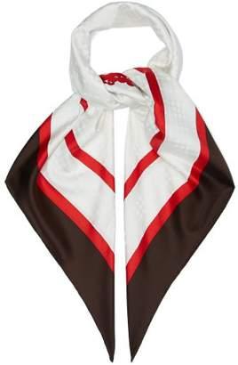 Burberry Society Silk Scarf - Mens - White Multi