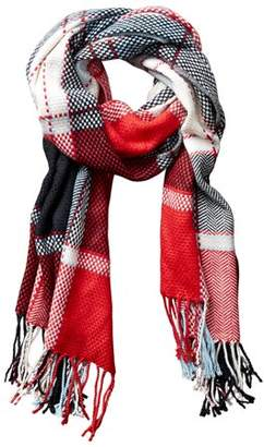 """Tickled Pink Kendall Plaid Scarf, 69"""" x 29"""", 100% Acrylic, Multiple Colors"""