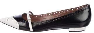 Tabitha Simmons Patent Leather Pointed-Toe Flats