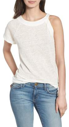 1 STATE 1.State One-Sleeve Linen Tee