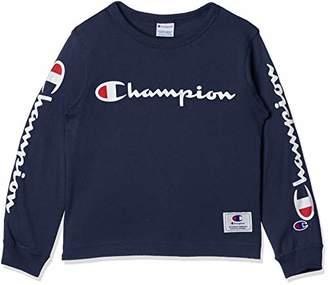 Champion (チャンピオン) - [チャンピオン] ロングスリーブTシャツ CS4752 ボーイズ ネイビー 日本 90 (日本サイズ90 相当)