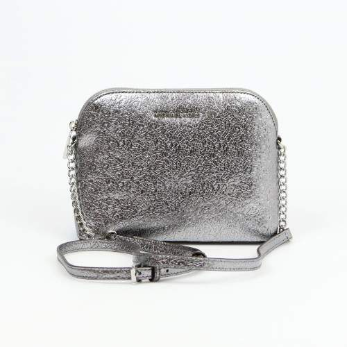 Michael Kors Large Pewter Dome Crossbody $188 - ONE COLOR - STYLE