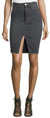 Etoile Isabel Marant Chadow High-Waist Pencil Denim Skirt