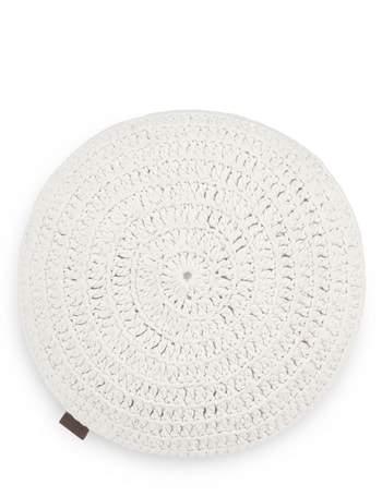 Round Crochet Accent Pillow