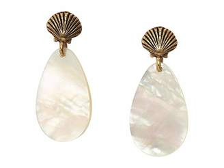 Alex and Ani Mother-of-Pearl Shell Earrings