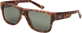 Under Armour Tortoiseshell-Look Regime Square Sunglasses