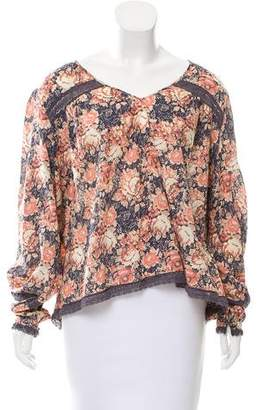 Current/Elliott Floral Print Long Sleeve Top w/ Tags