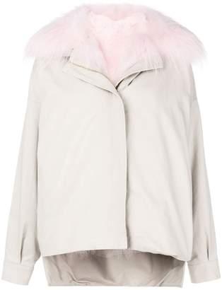 Liska fur collar oversized jacket