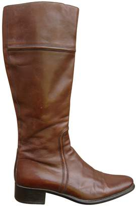 Santoni Brown Leather Boots