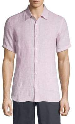 Orlebar Brown Short-Sleeve Linen Button-Down Shirt