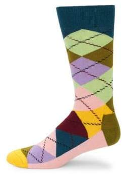 Happy Socks Argyle Mid-Calf Socks