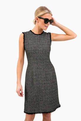 Rebecca Taylor Black Tweed Dress