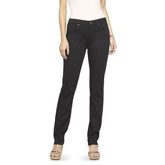 Women's Mid-rise Straight Leg Jeans (Curvy Fit) Black - Mossimo $27.99 thestylecure.com