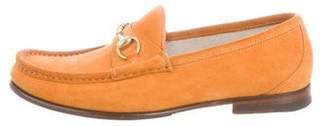 Gucci Suede Horsebit Loafers