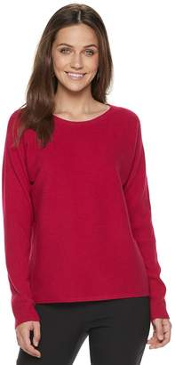 Apt. 9 Women's Ribbed Crewneck Dolman Sweater