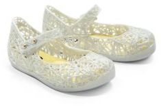 Mini Melissa Girl's Campana Zigzag Glitter Mary Jane Flats $50 thestylecure.com