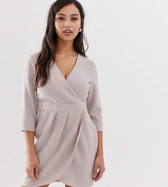 Asos DESIGN Petite mini dress with wrap skirt