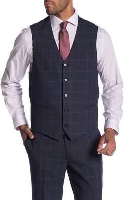 Co SAVILE ROW Cheshire Windowpane Modern Fit Vest
