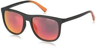 Armani Exchange Men's Injected Man Sunglass Non-polarized Iridium Square Sunglasses
