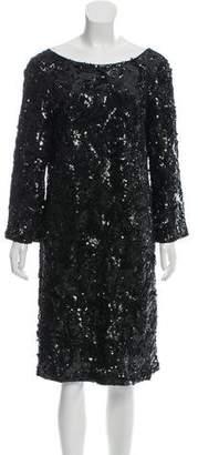 Marchesa Sequin Knee-Length Dress