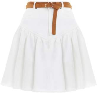 Zimmermann Veneto Denim Mini Skirt